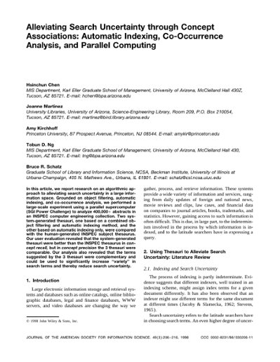 Alleviating Search Uncertainty through Concept Associations