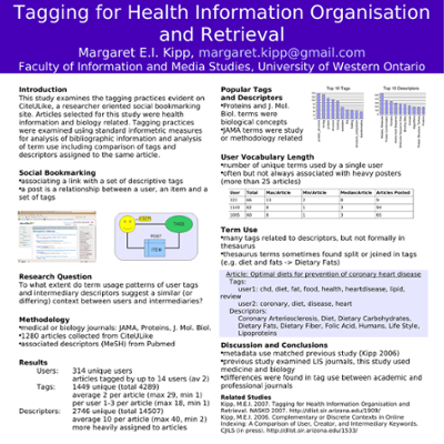 Tagging for Health Information Organisation and Retrieval