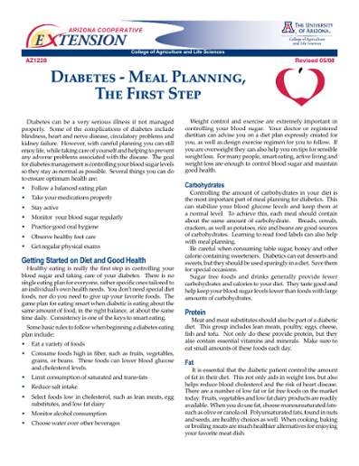 diabetes meal planning pdf