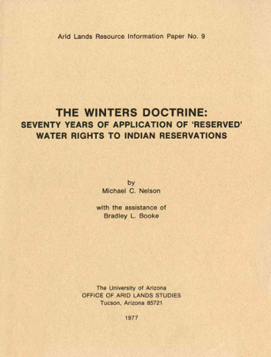 The Winters Doctrine: Seventy Years of Application of