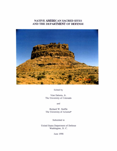 native american sacred sites and the department of defense