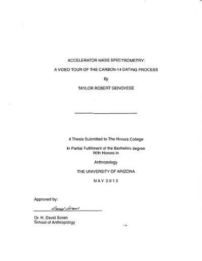 Universität von arizona Radiocarbon-Dating
