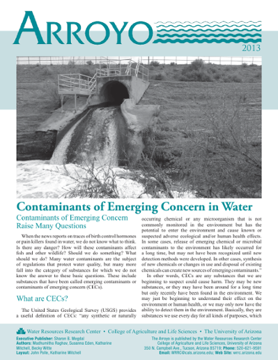 Contaminants of Emerging Concern in Water