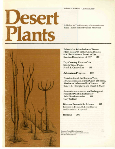 Editorial - Stimulation of Desert Dry Country Plants of the