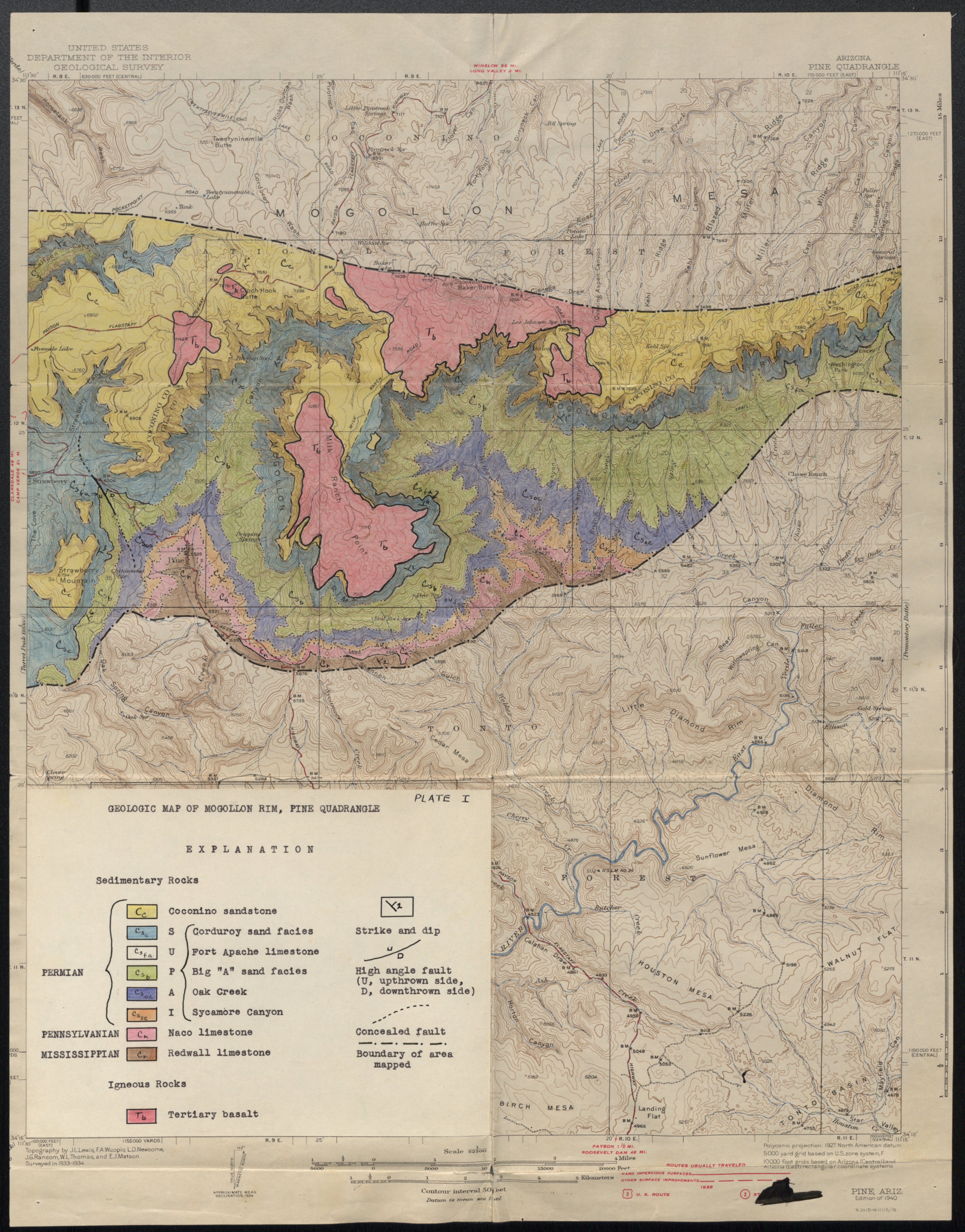 The Stratigraphy Of The Supai Formation Along The Mogollon Rim