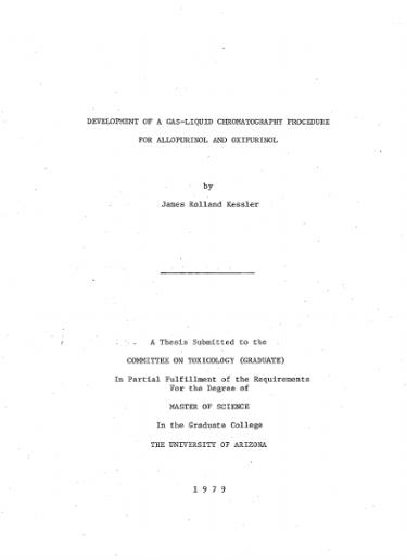 Development of a gas-liquid chromatography procedure for