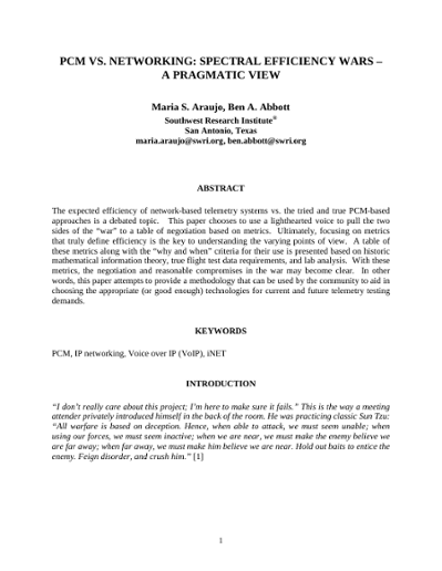 Browsing International Telemetering Conference Proceedings