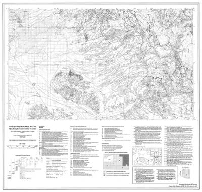 Map Of Central Arizona.Geologic Map Of The Mesa 30 X 60 Quadrangle East Central Arizona