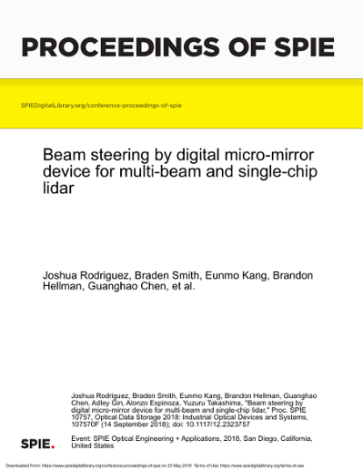 Beam steering by digital micro-mirror device for multi-beam