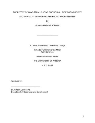 Thesis on population education